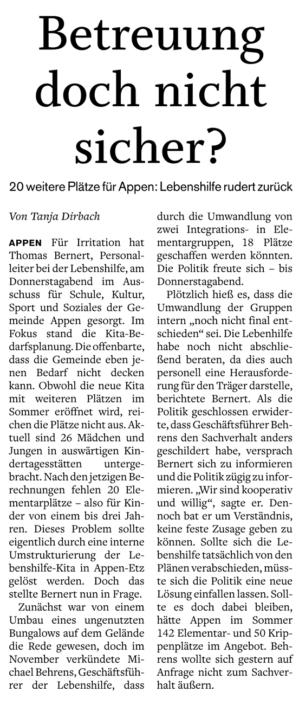 Pinneberger Tageblatt vom 20.02.2020